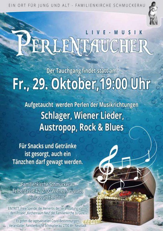 Konzert der Perlentaucher am 29.10.2021